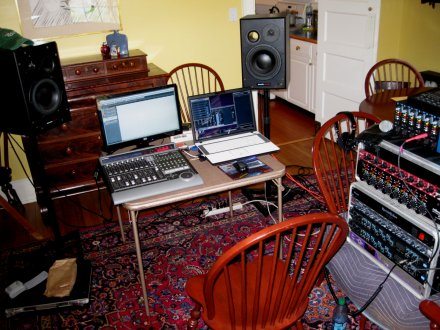 Home Recording Control Room with Millennia and API mic pre's