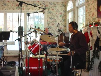 Rhythm section during home recording